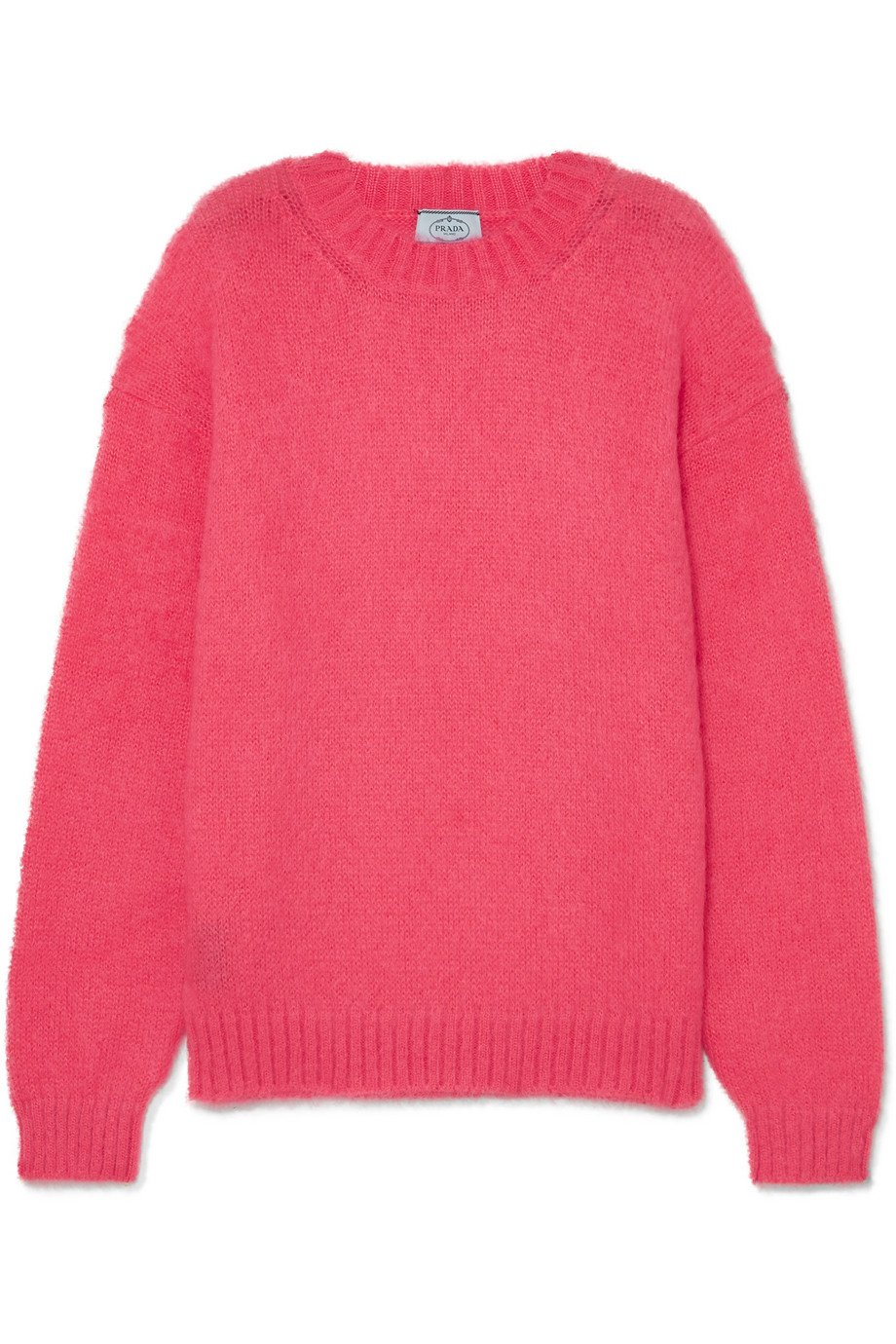 Prada | Oversized mohair-blend sweater | NET-A-PORTER.COM