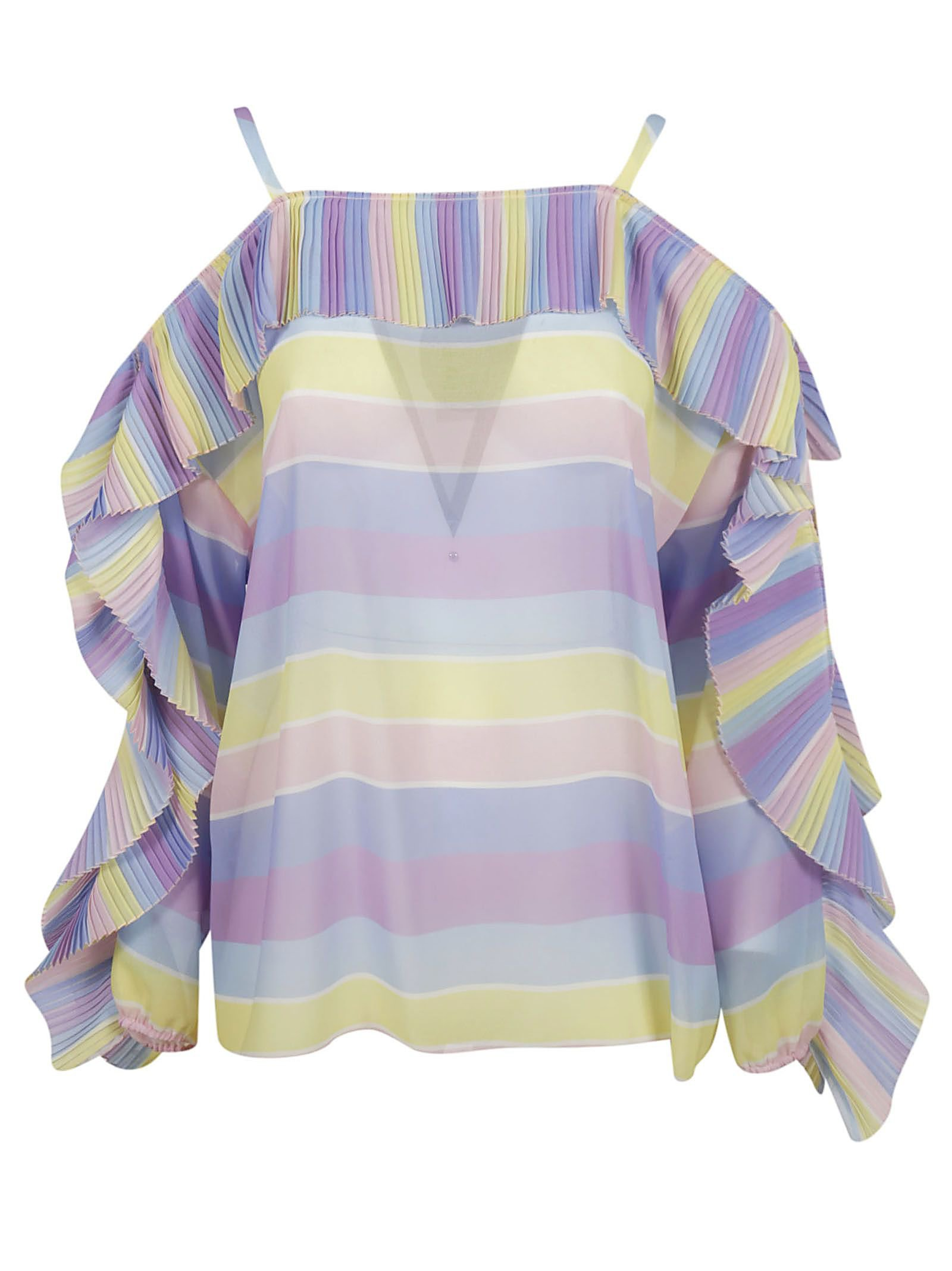 Blugirl Striped Print Blouse