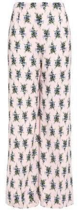 Hullinie Floral-print Crepe Wide-leg Pants