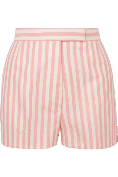 Thom Browne | striped wool, mohair and silk-blend shorts