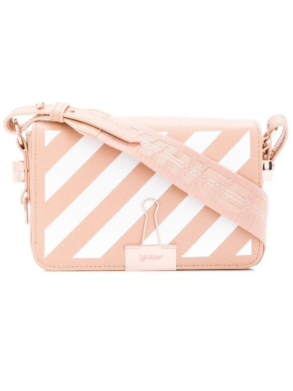 Diagonal Binder crossbody bag NUDE AND WHITE - BAGS - WOMEN | The Webster