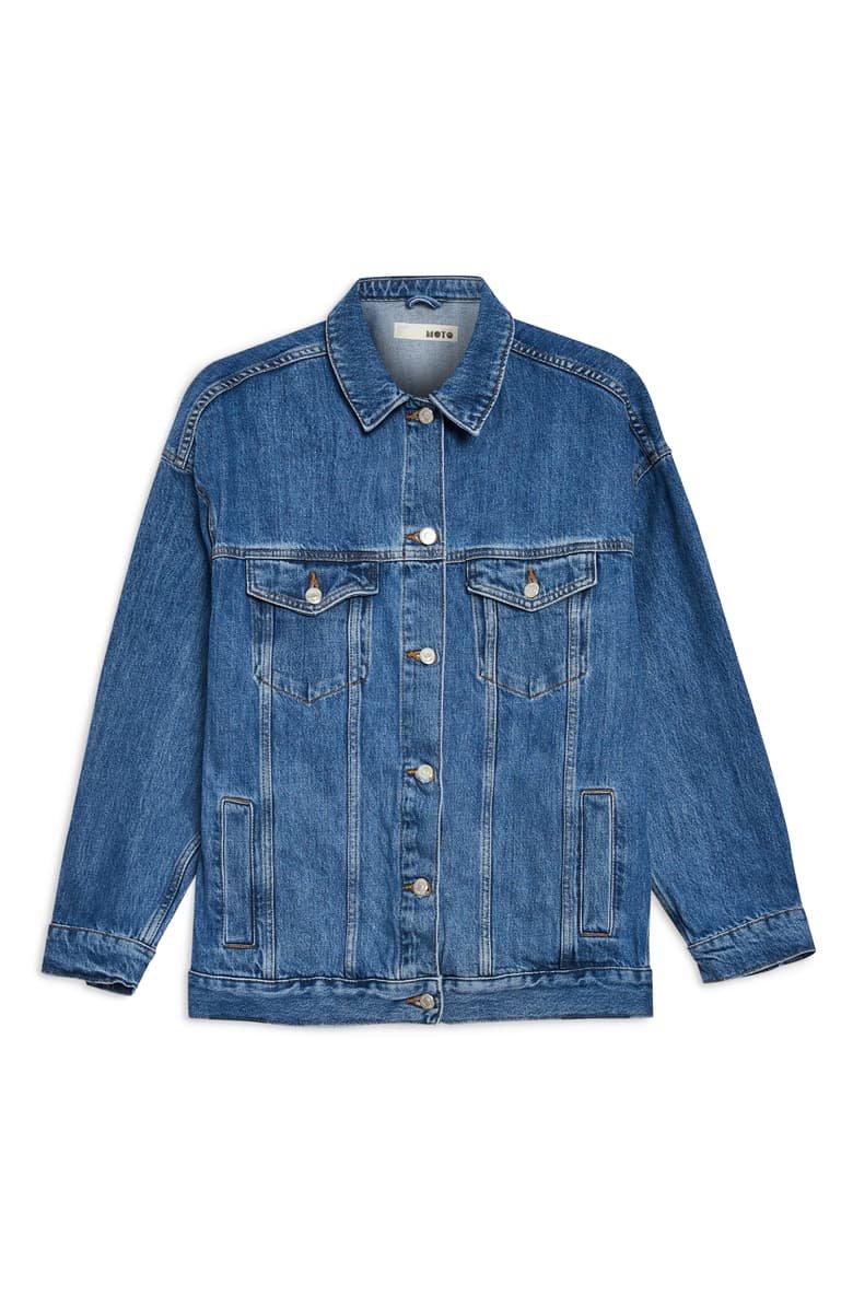 Topshop Oversized Denim Jacket | Nordstrom