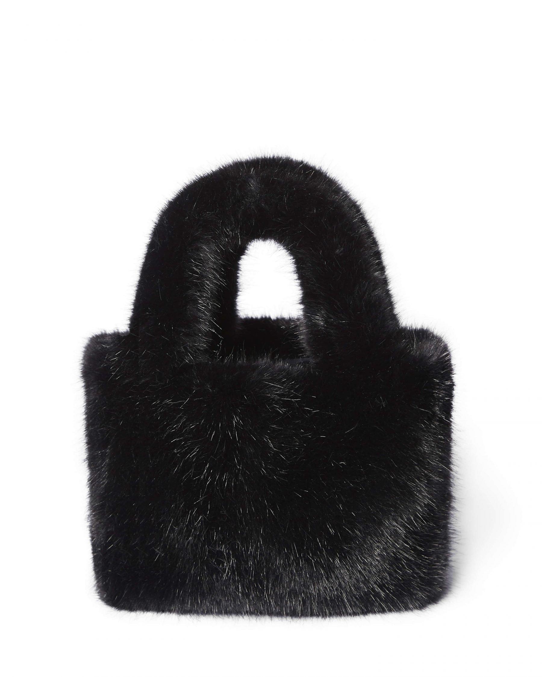 Grado faux fur bag black - Totême