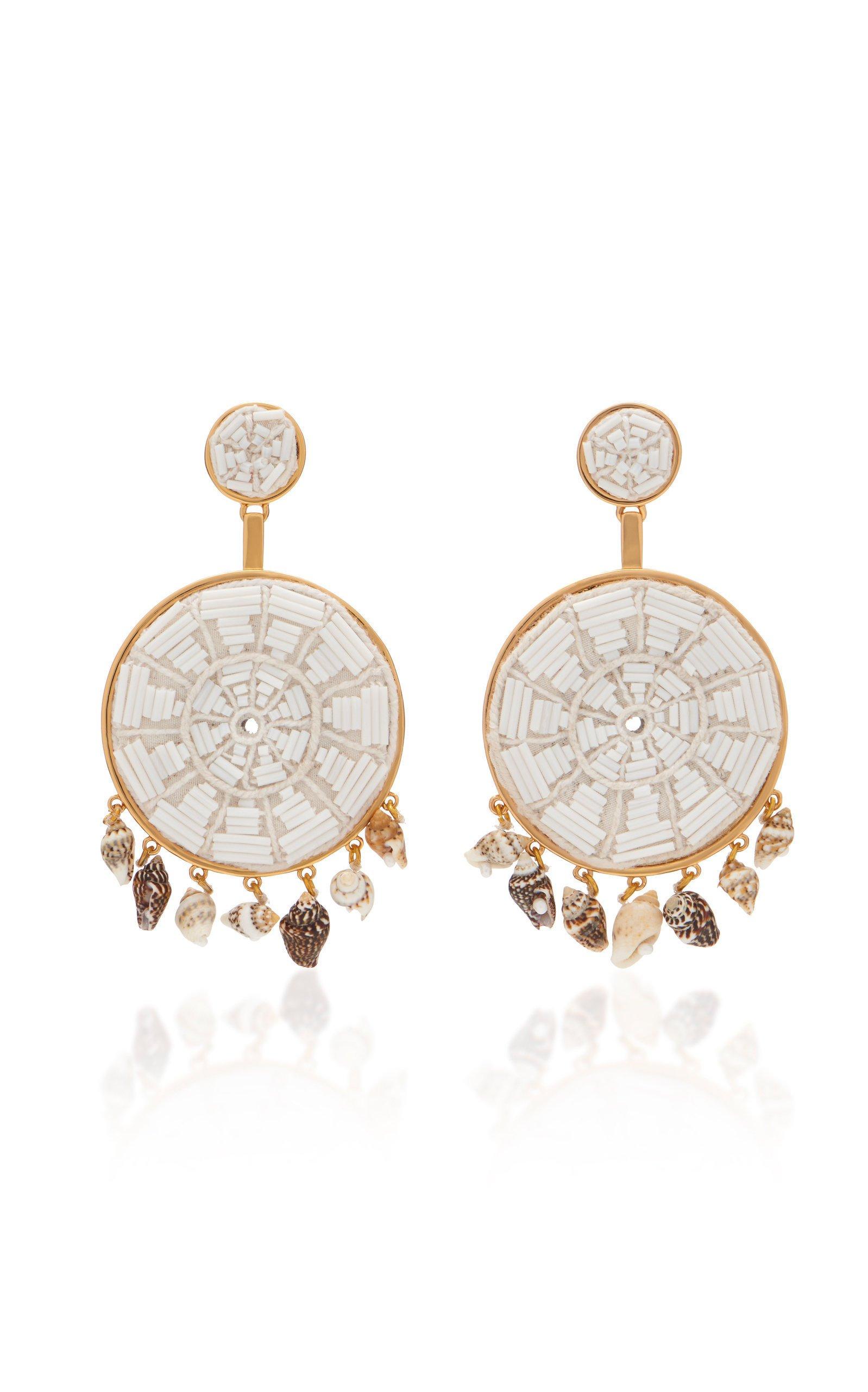 Mignonne Gavigan Rachel Beaded Faux Shell And Cotton Earrings