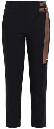 Buckled Crepe Tapered Pants