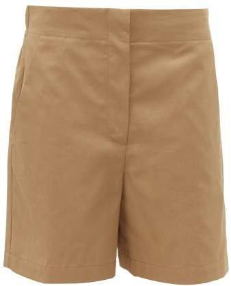 Elasticated Back Cotton Shorts - Womens - Tan