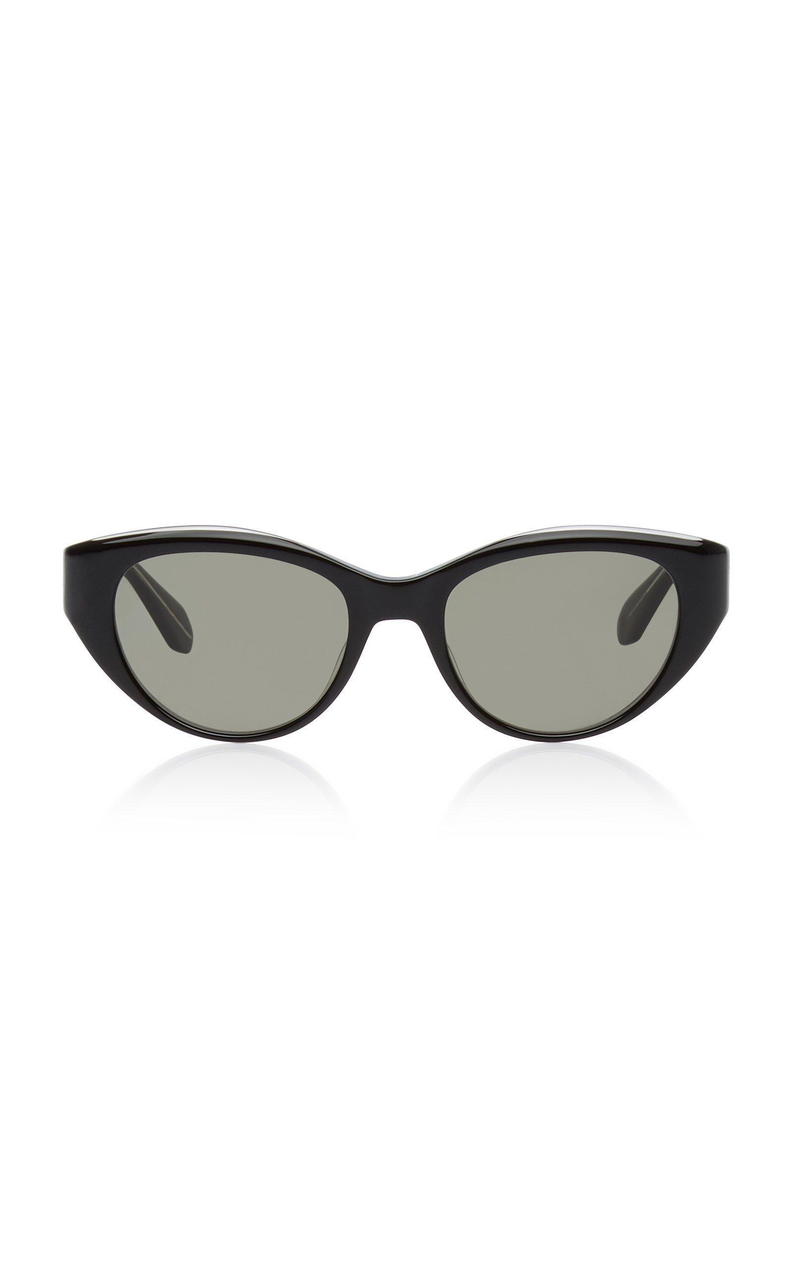 Garrett Leight Del Rey 50 Black Acetate Round-Frame Sunglasses