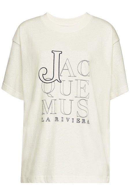 Jacquemus - Le T-Shirt Riviera Embroidered Cotton T-Shirt - white