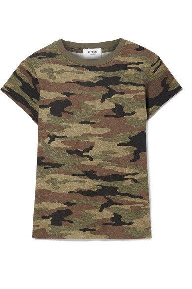 RE/DONE   Camouflage-print slub cotton-jersey T-shirt   NET-A-PORTER.COM
