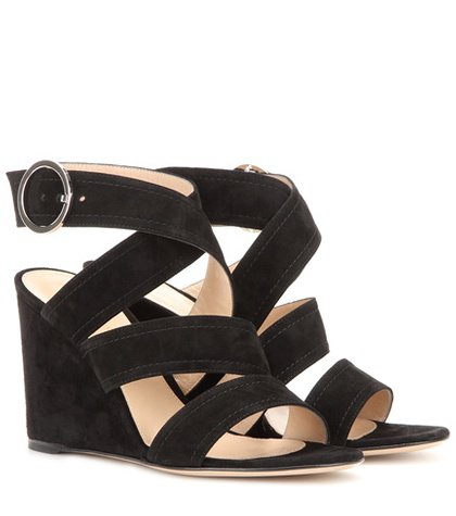 Rylee suede wedge sandals