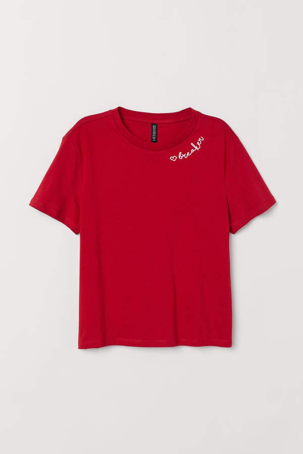 Cotton T-shirt - Red