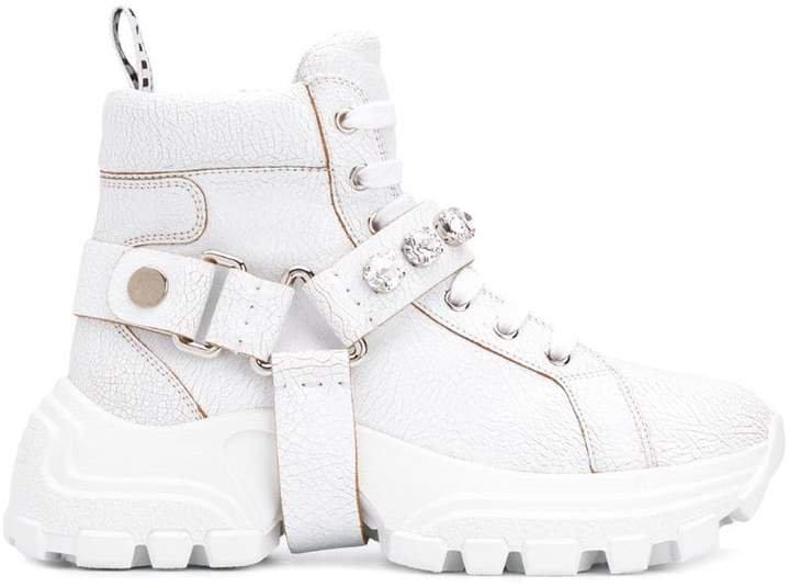 crystal embellished sneakers