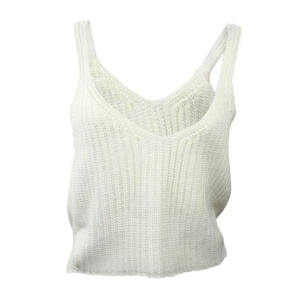Knitted White Tank Top