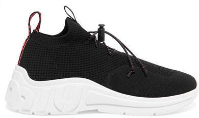 Stretch-mesh Sneakers - Black