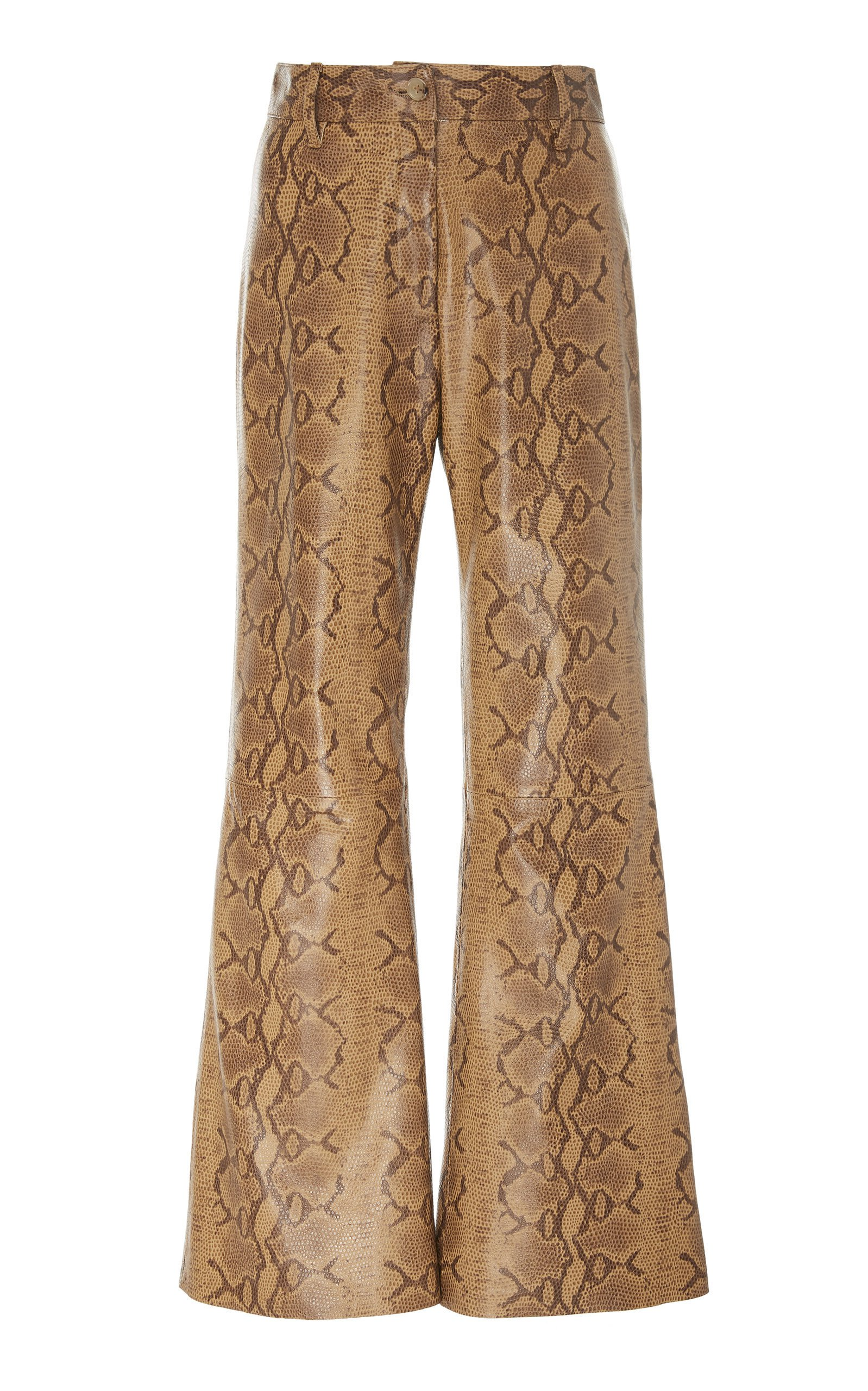 NILI LOTAN Vianna Cropped Leather Pant Size: 4