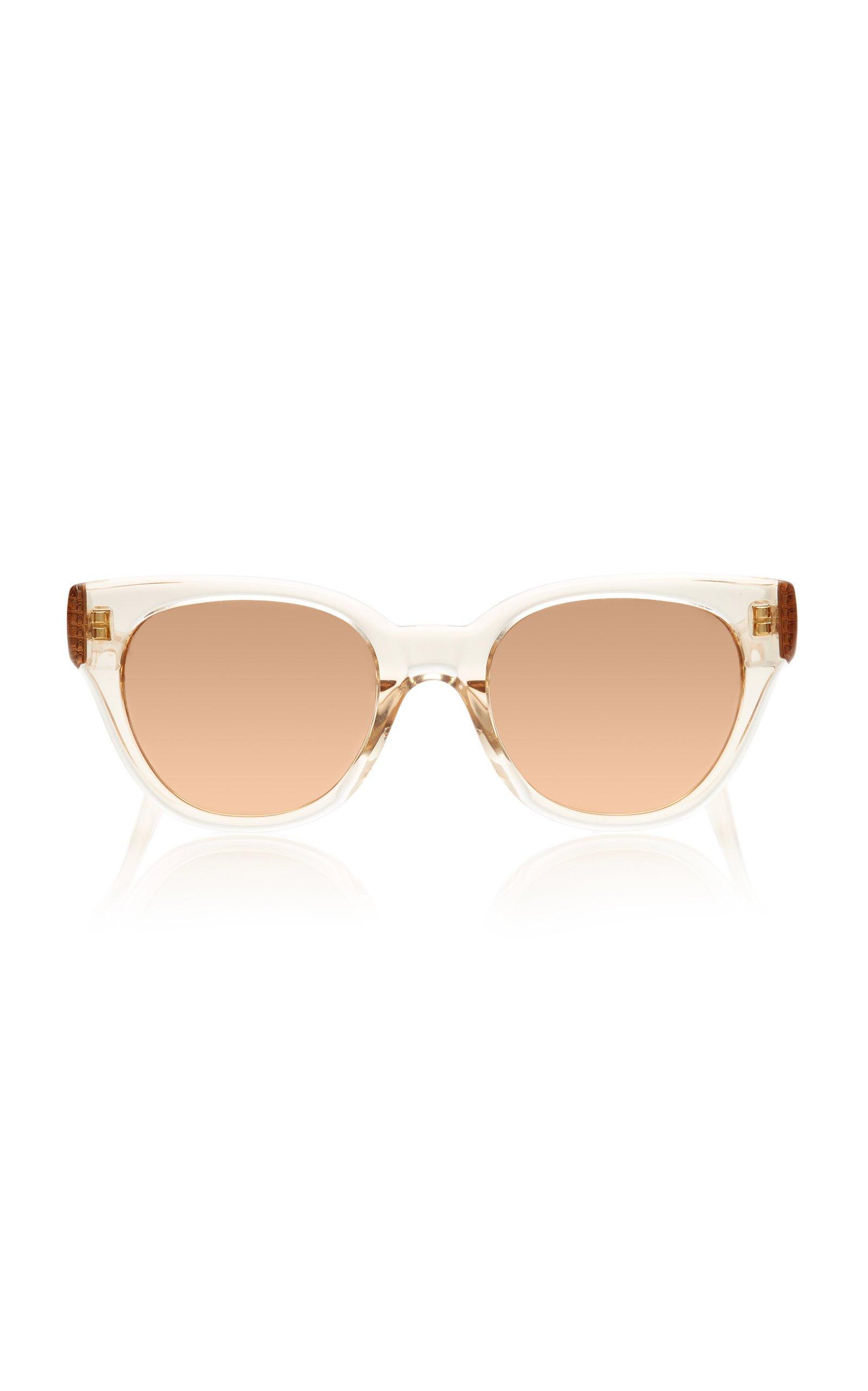 Linda Farrow Rose-Gold Acetate Sunglasses