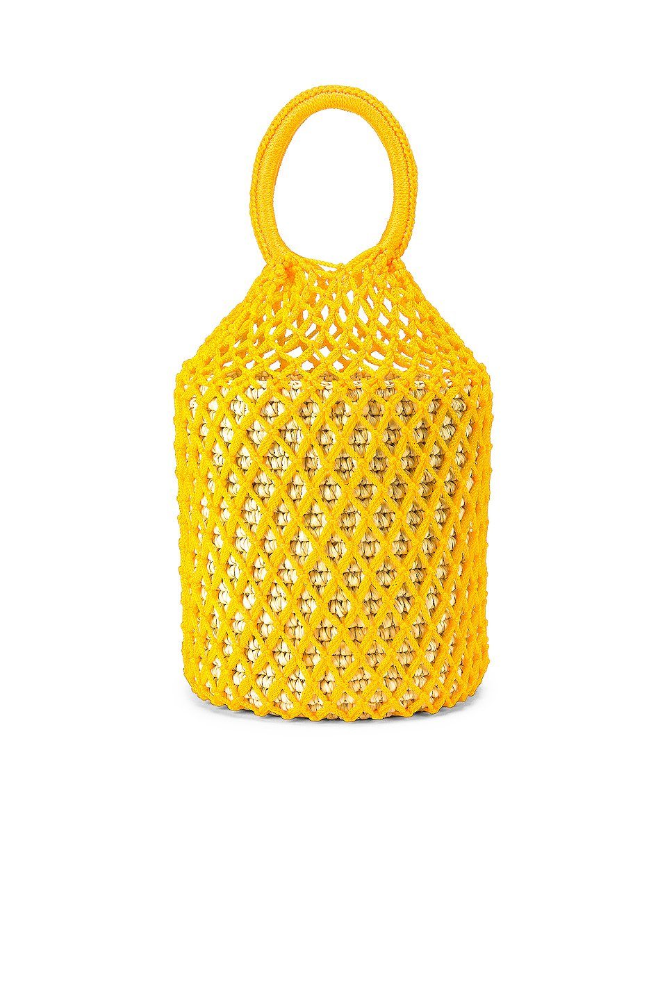 Straw Netted Bucket Bag