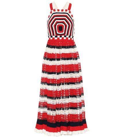 Paz cotton crochet maxi dress