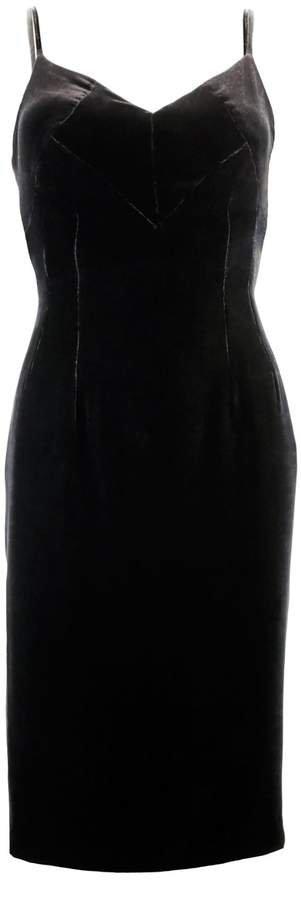 JULIANA HERC - Black Velvet Dress
