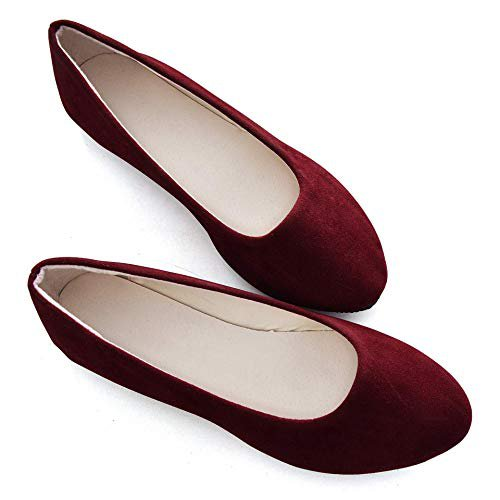 Amazon.com | Stunner Women Cute Slip-On Ballet Shoes Soft Solid Classic Pointed Toe Flats | Flats