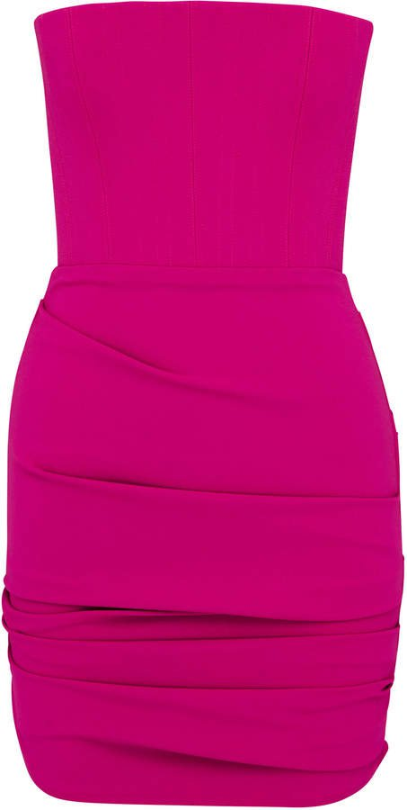 Kalen Strapless Stretch Crepe Mini Dress Size: 4