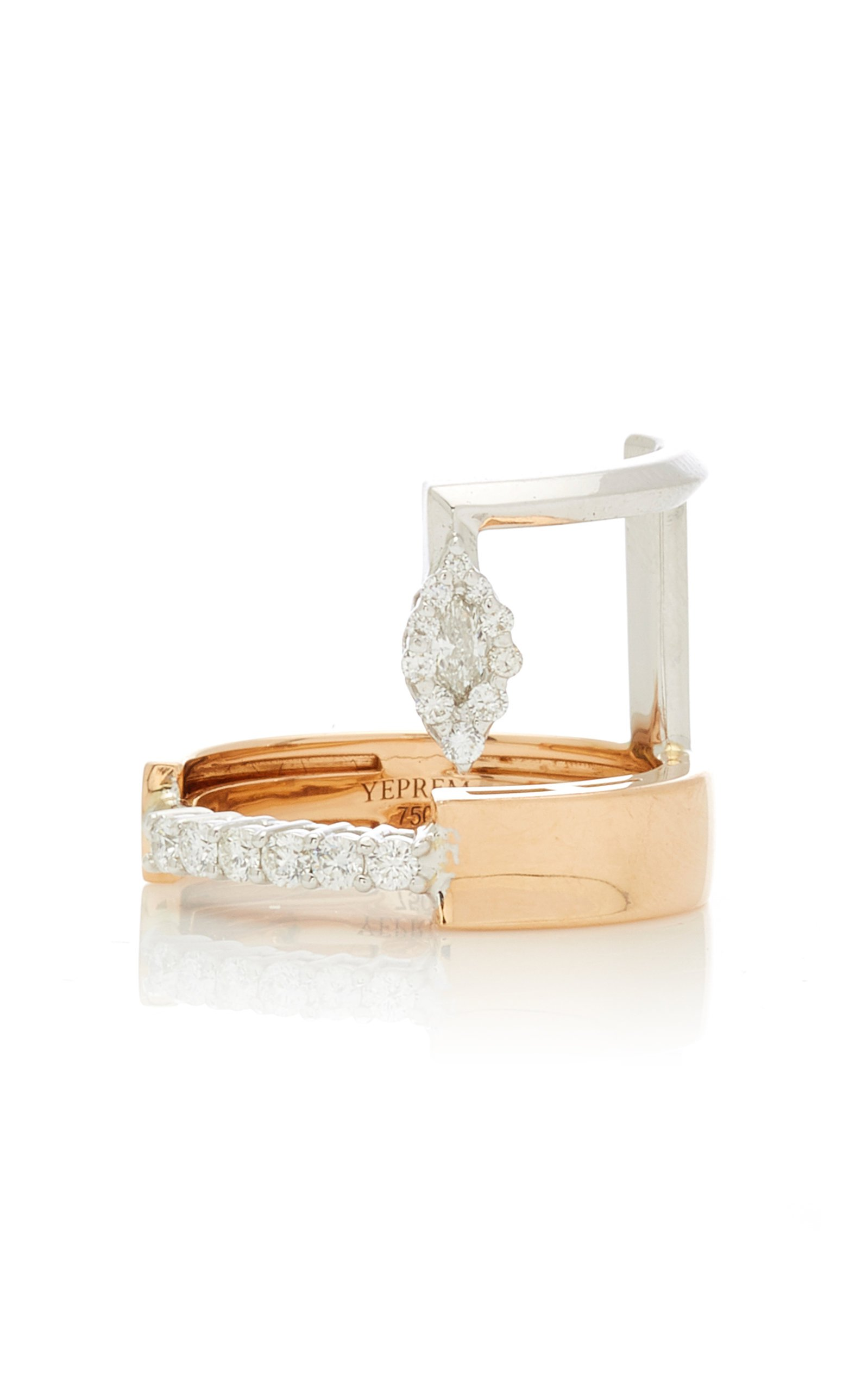 Yeprem 18K White & 18K Rose Gold Electrified Ring Size: 6.5