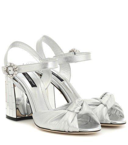 Mordore metallic leather sandals