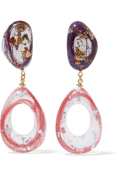 Ejing Zhang   Kaare resin and gold-plated earrings   NET-A-PORTER.COM