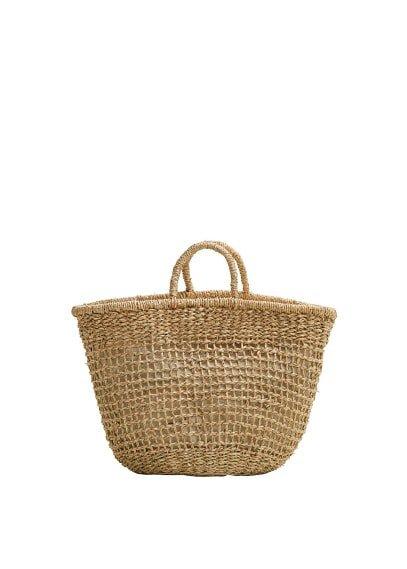 MANGO Handmade basket bag