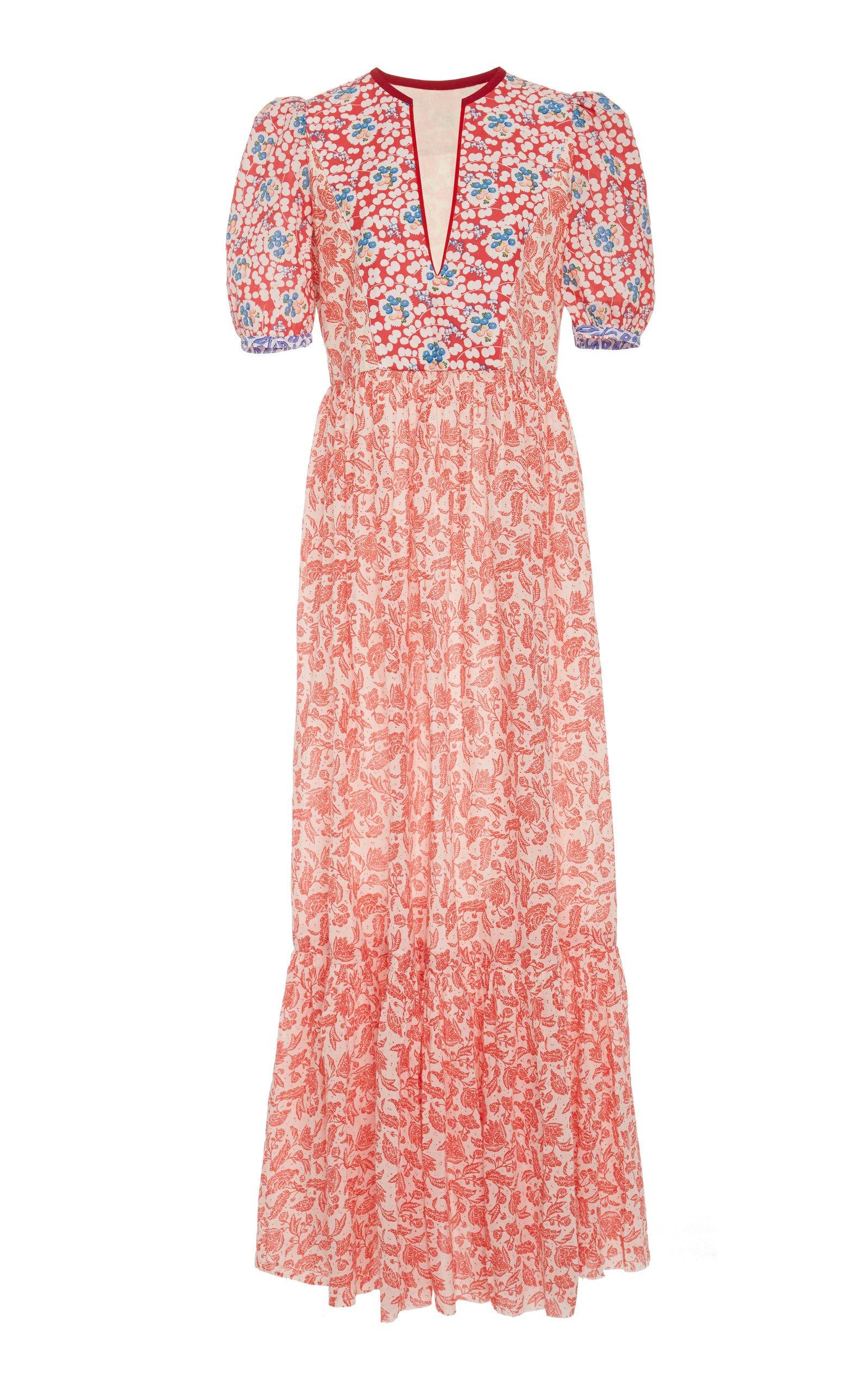 Alix of Bohemia Laetitia Multi-Print Cotton Dress
