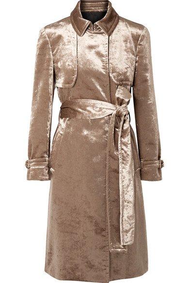 Brunello Cucinelli | Cotton-blend velvet trench coat | NET-A-PORTER.COM