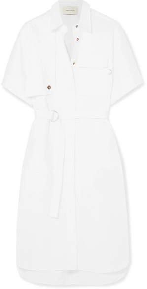 Cotton-poplin Midi Dress - White