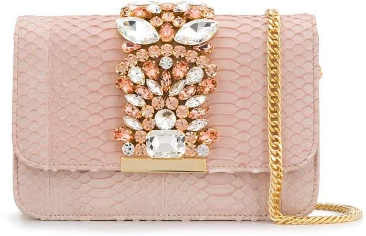 crystal embellished clutch