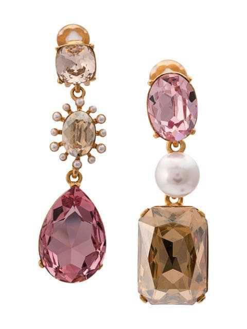 OSCAR DE LA RENTA embellished drop earrings