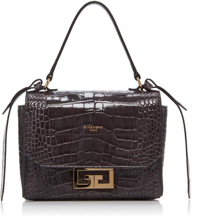 Eden Mini Croc-Embossed Leather Shoulder Bag