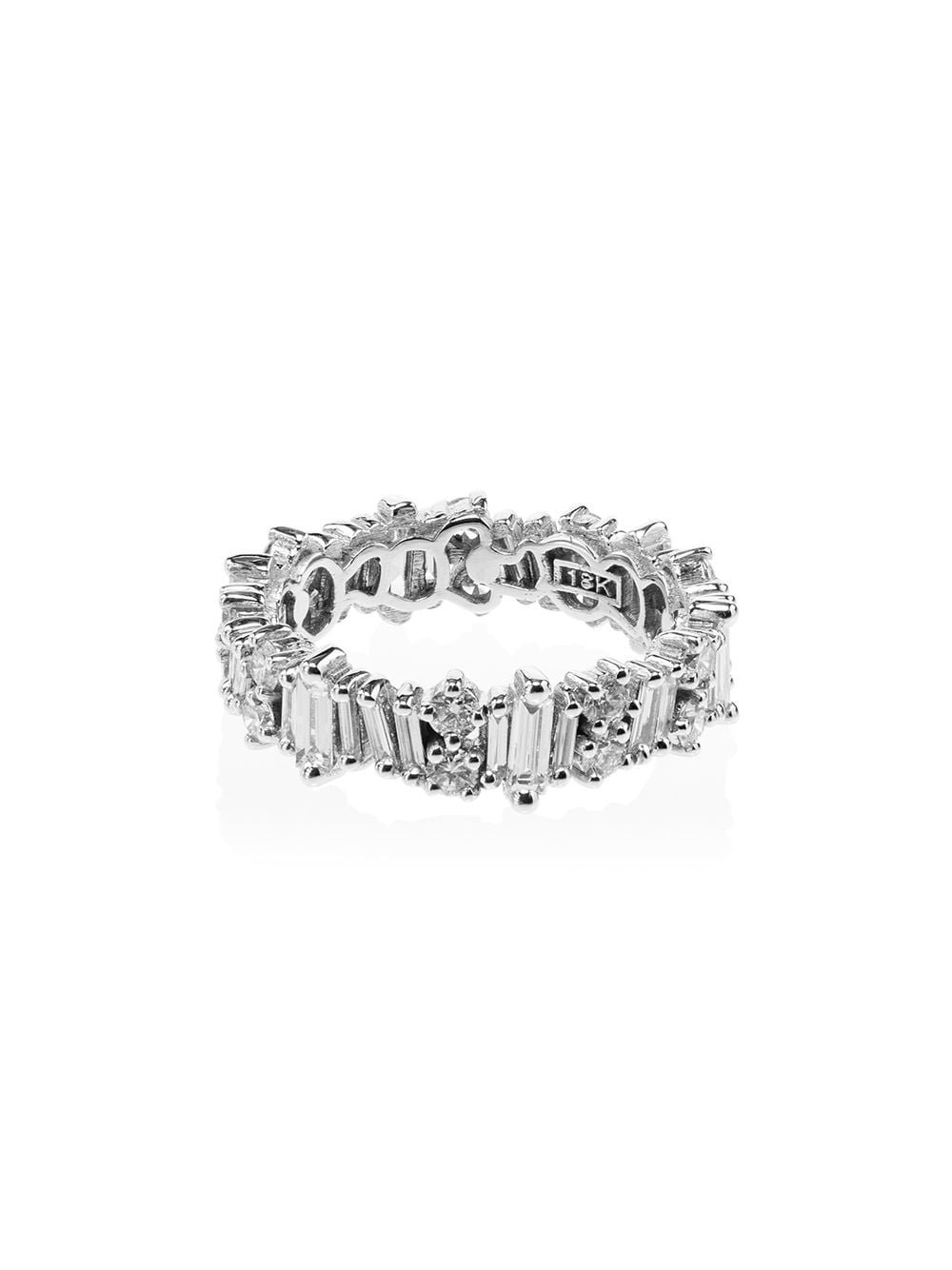 Suzanne Kalan 18kt White Gold Fireworks Diamond Eternity Ring | Farfetch.com