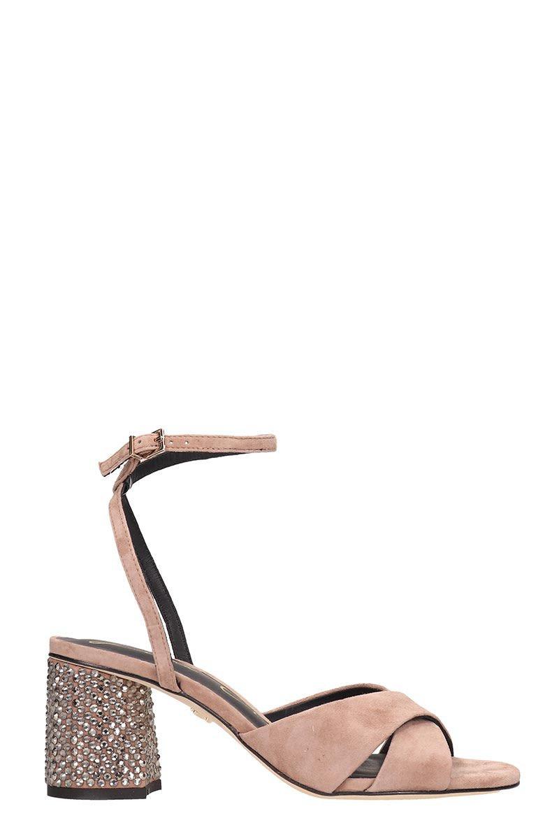 Lola Cruz Taupe Suede Sandals