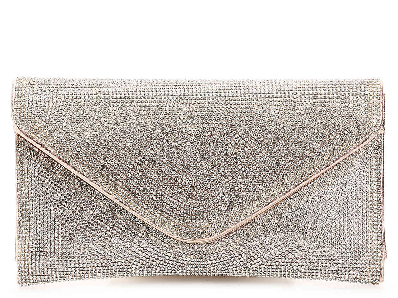 Lulu Townsend Rhinestone Envelope Clutch Women's Handbags & Accessories | DSW