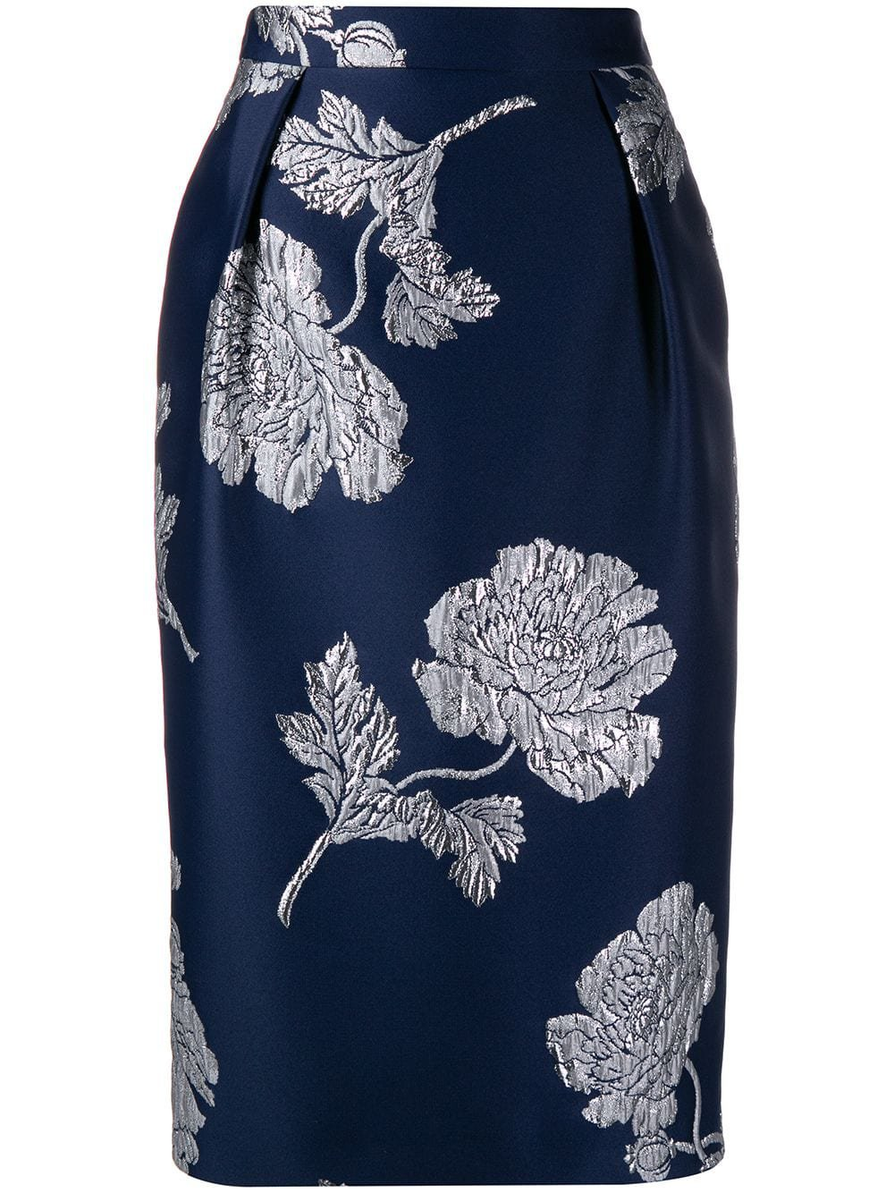 Alexander McQueen Floral Jacquard Pencil Skirt - Farfetch