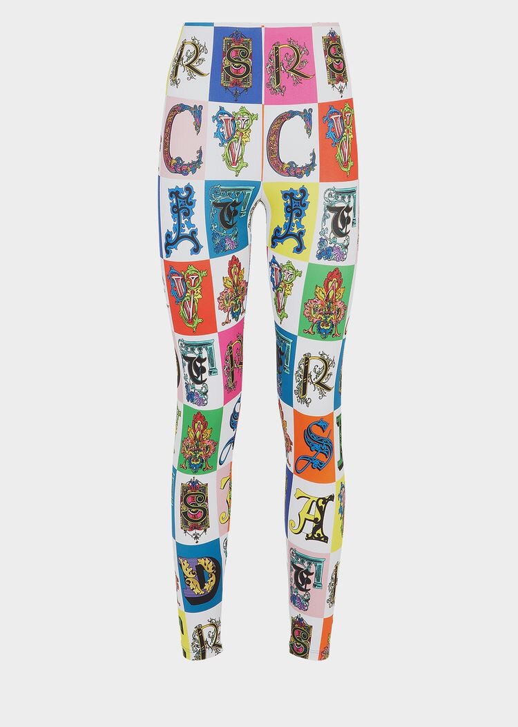 Versace Alphabet Print Leggings