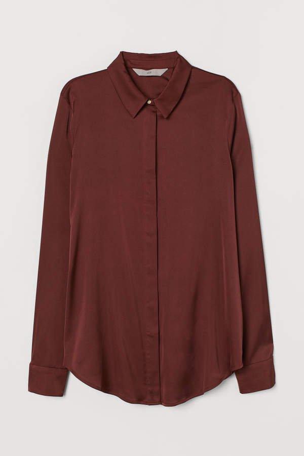 Long-sleeved Blouse - Beige