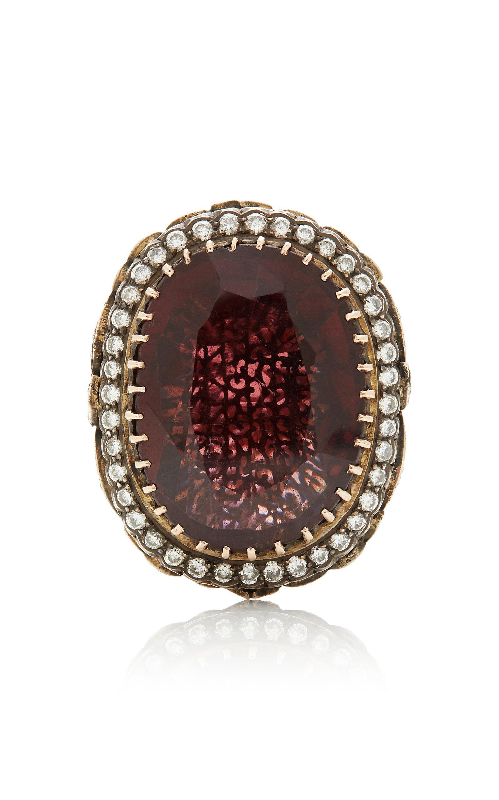 Amrapali 14K Gold Tourmaline and Diamond Ring