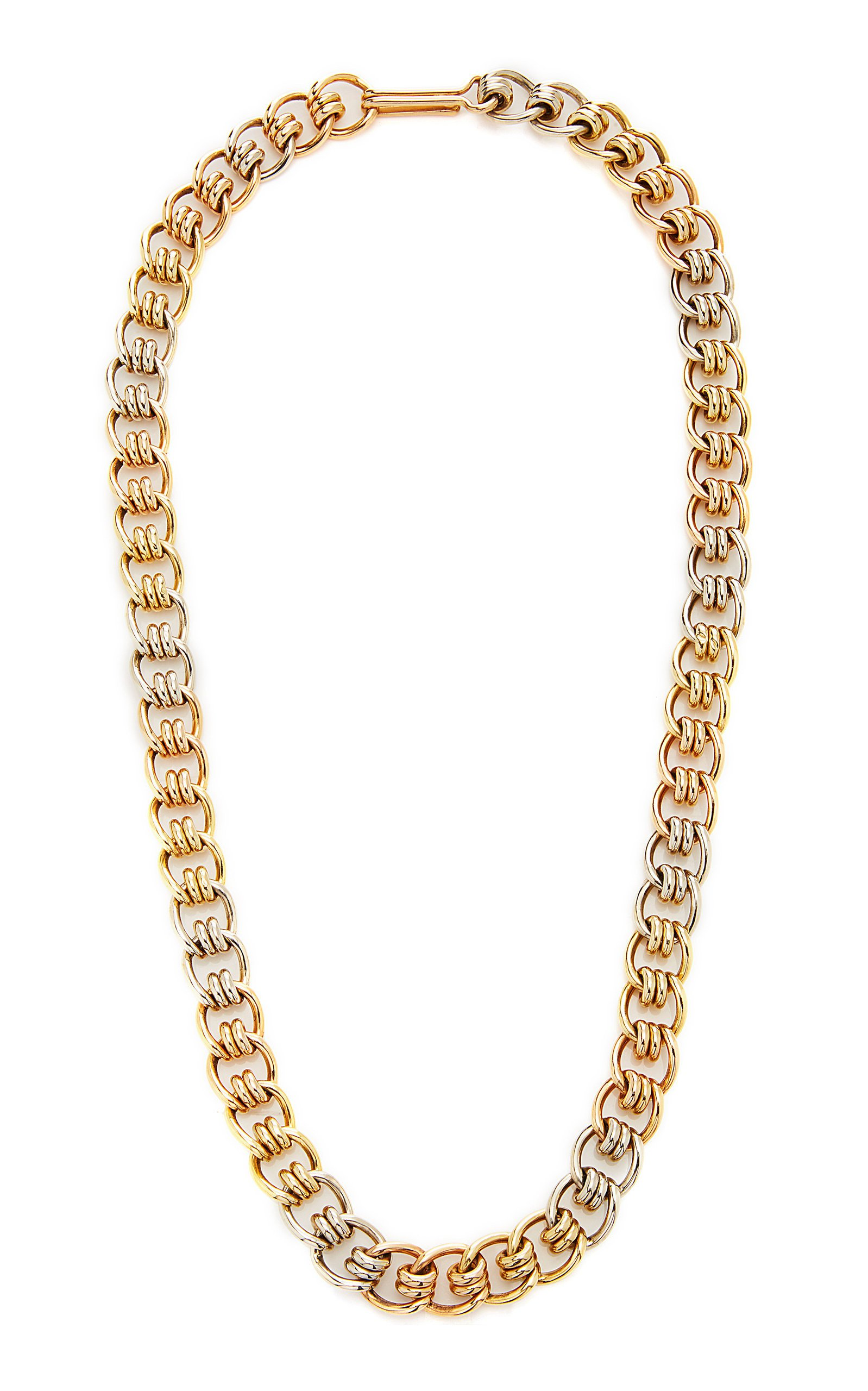 Simon Teakle Tricolor Gold Chain Necklace