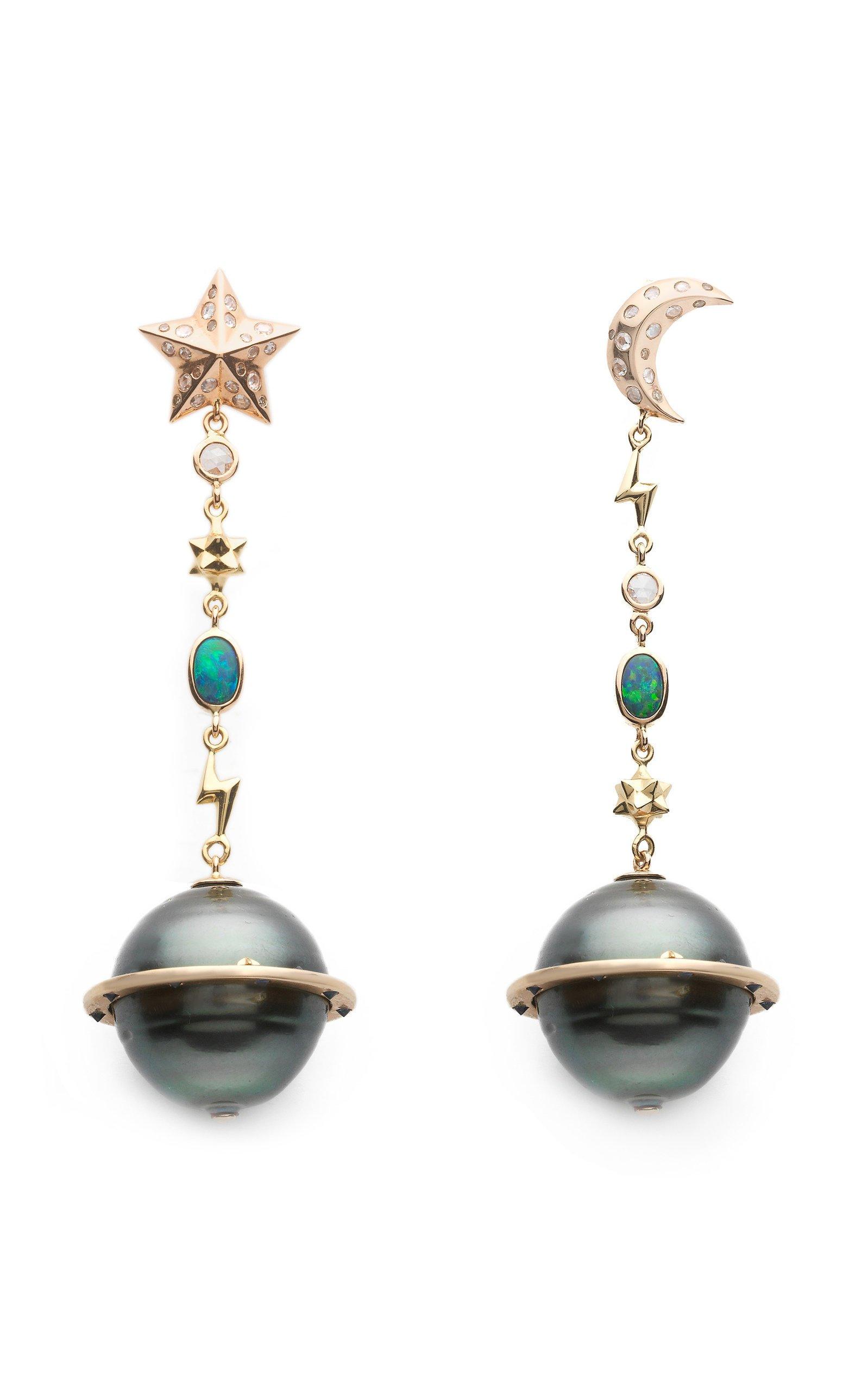 Bibi van der Velden Planet Earrings Star and Moon