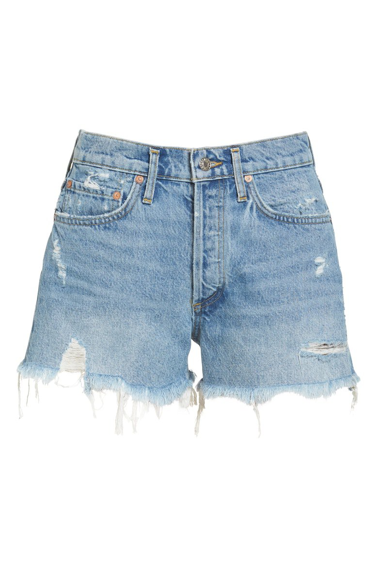 AGOLDE Parker Distressed Denim Shorts (Swapmeet)   Nordstrom
