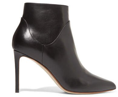 Leather Ankle Boots - Black