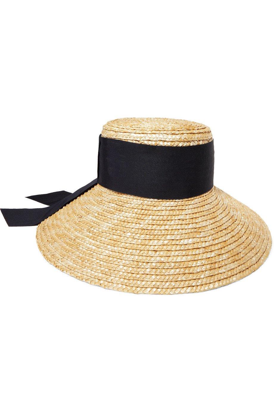 Eugenia Kim | Annabelle grosgrain-trimmed straw hat | NET-A-PORTER.COM