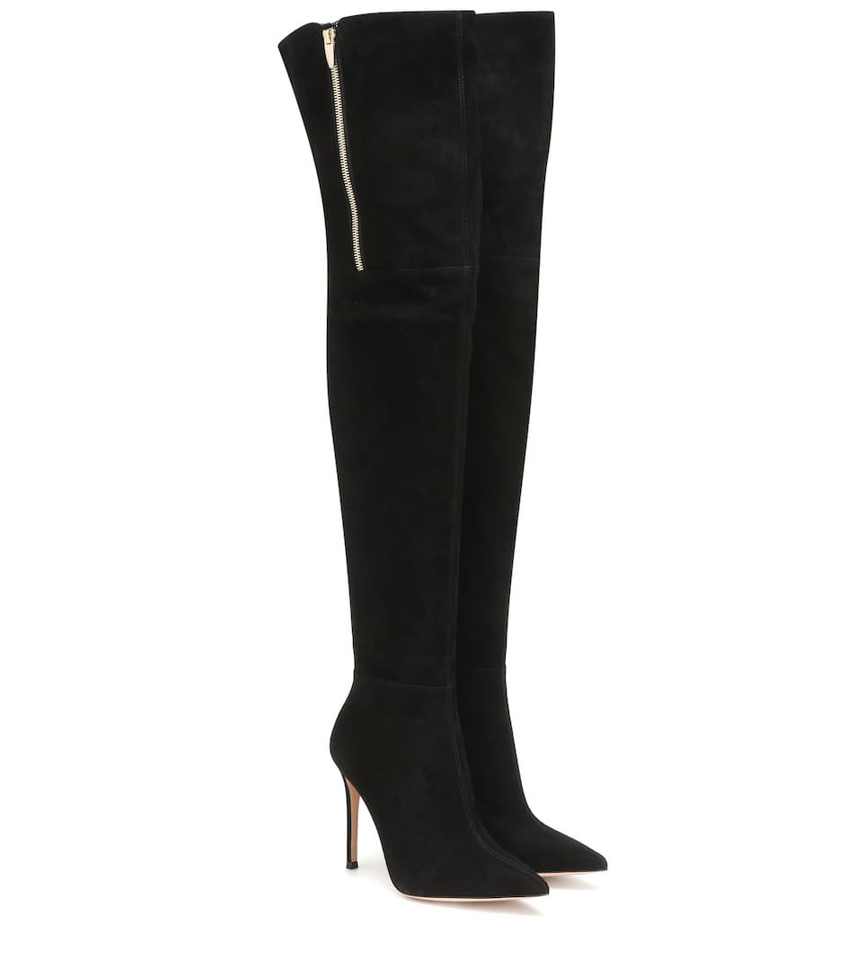 Suede Over-The-Knee Boots - Gianvito Rossi | Mytheresa