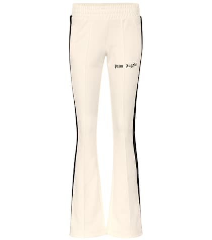 Flared jersey trackpants