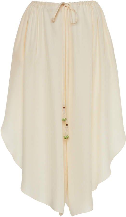 Etro Silk Wide-Leg Pants Size: 40